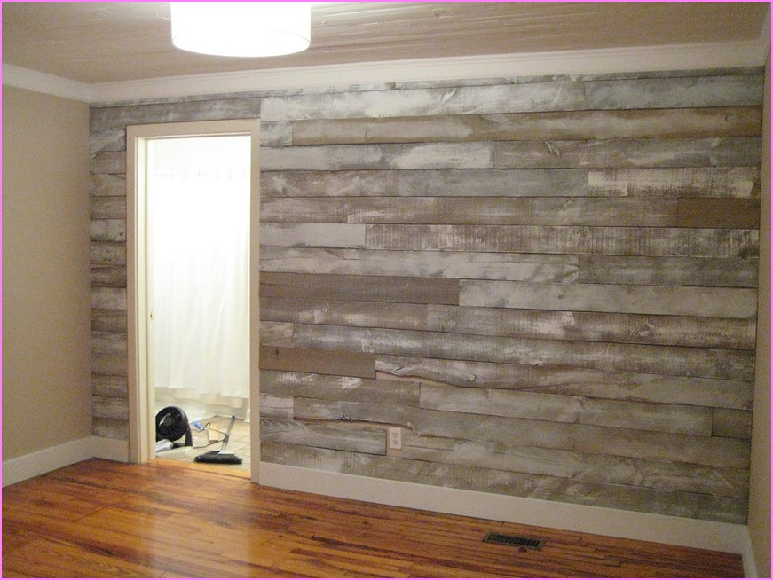Adhesive Wood Paneling Room