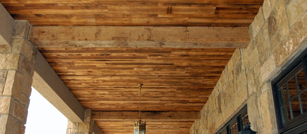 Image of: Barn Wood Paneling Ceiling