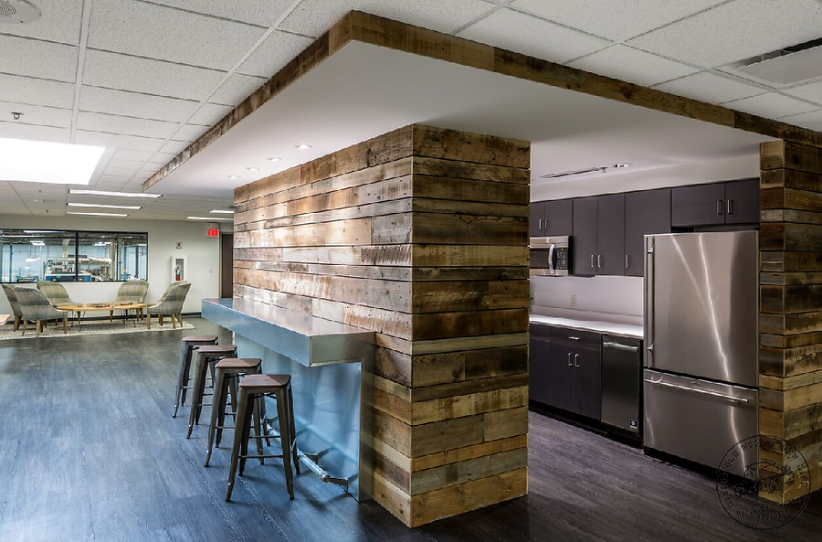 Image of: Barn Wood Paneling Wall