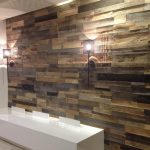 Barn Wood Paneling with Lamps