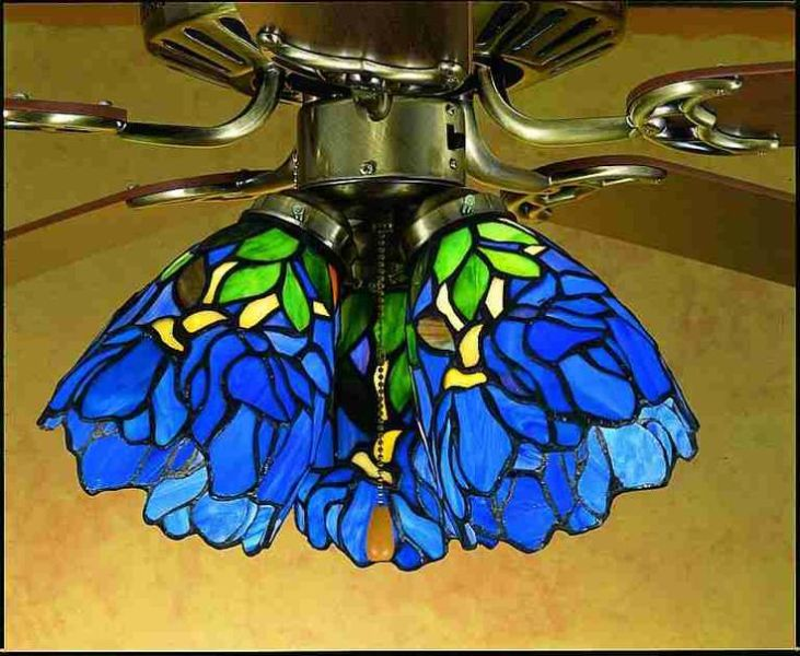 Picture of: Blue Tiffany Style Ceiling Lamp Shade Light