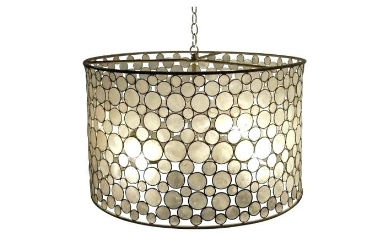 Image of: Ceiling Light Drum Shade