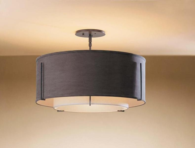 Image of: Ceiling Mount Drum Shade Lighting