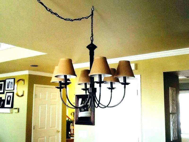 Image of: Chandelier Drum Lamp Shades