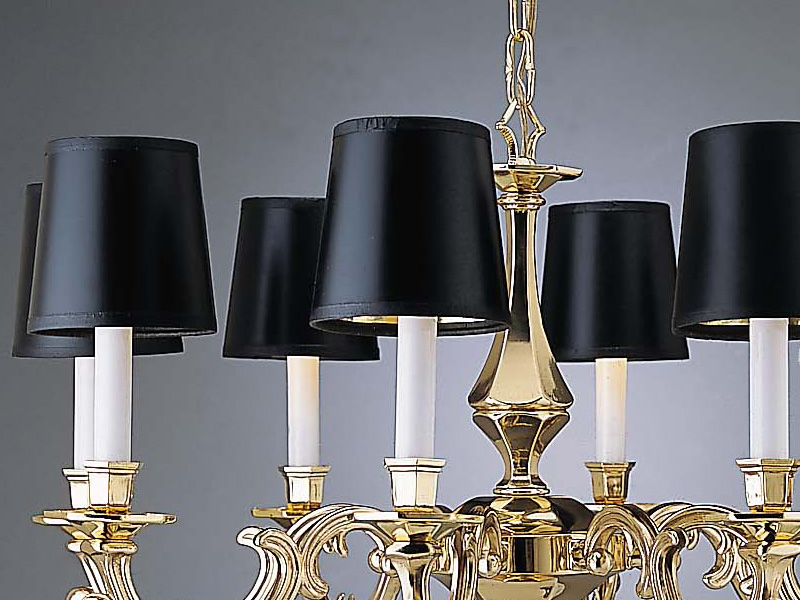 Image of: Chandelier Lamp Shades Black