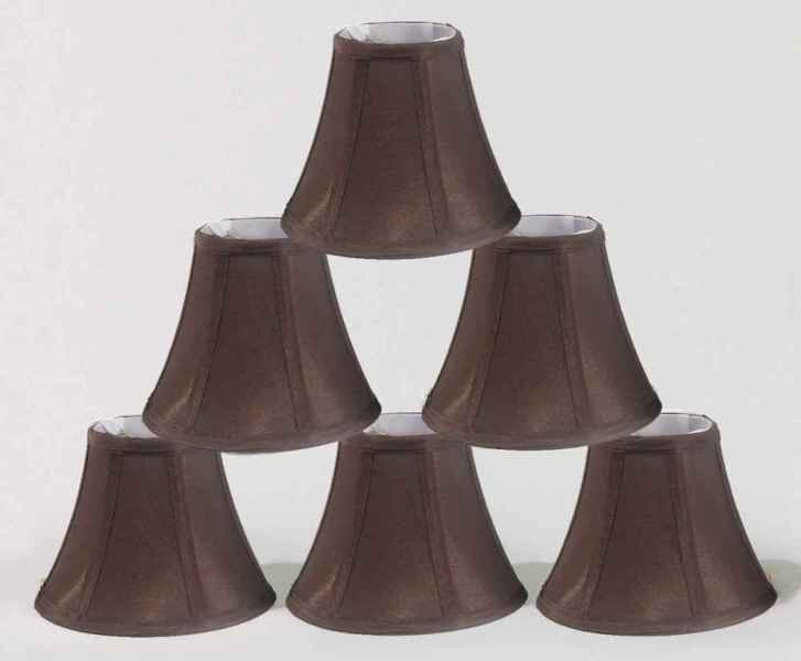 Image of: Chandelier Lamp Shades Set Of 6