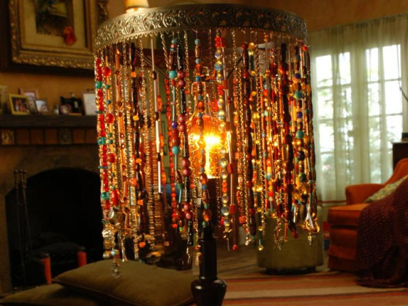 Image of: Chandelier Lamp Shades With Beads