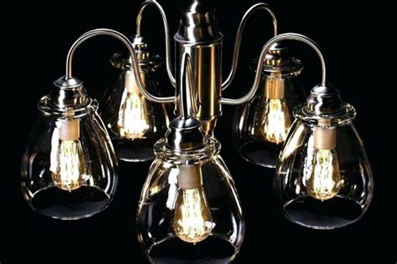 Picture of: Clear Glass Chandelier Shades