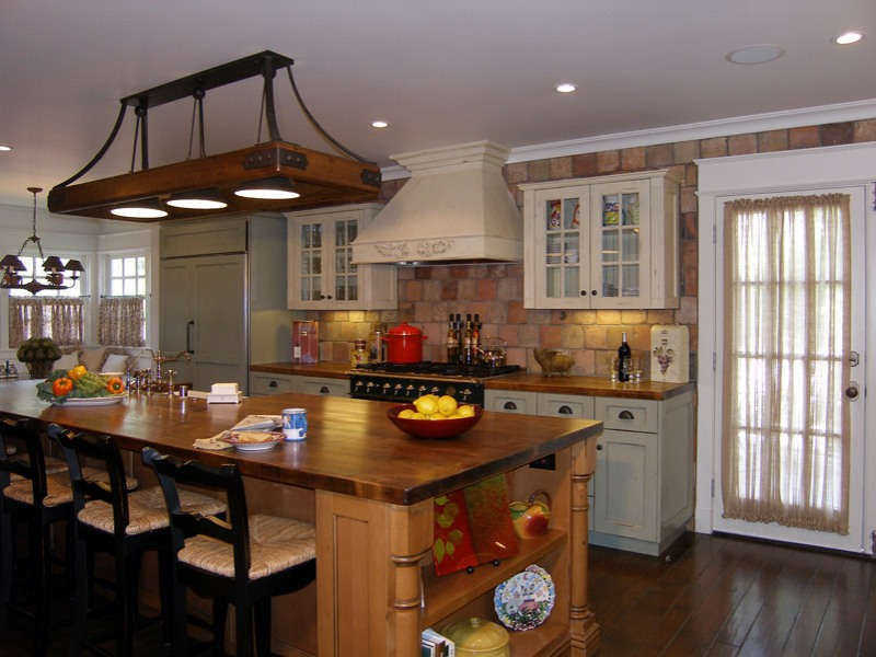 Image of: Country Kitchen Light Fixture