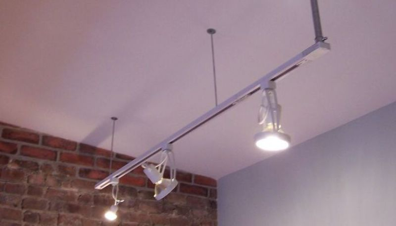 Image of: Decorative Ceiling Track Lighting With Plug