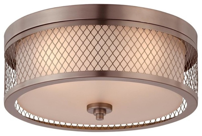 Image of: Double Drum Shade Ceiling Light