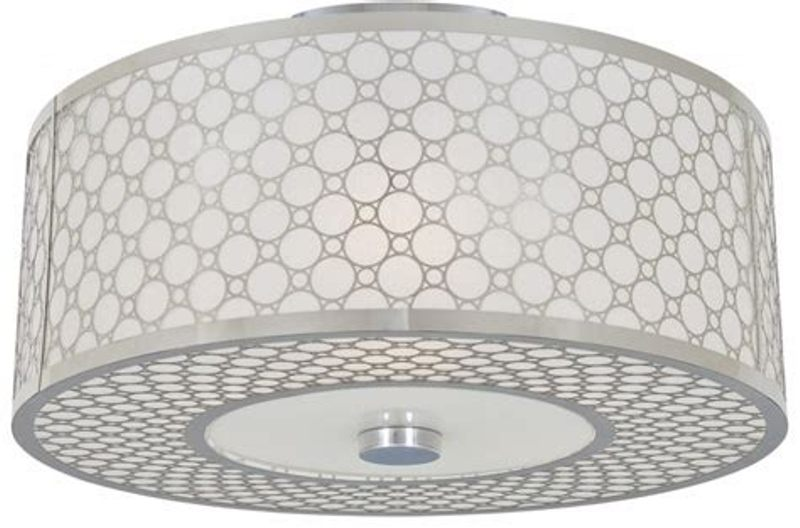 Image of: Drum Shade Ceiling Light Fixtures