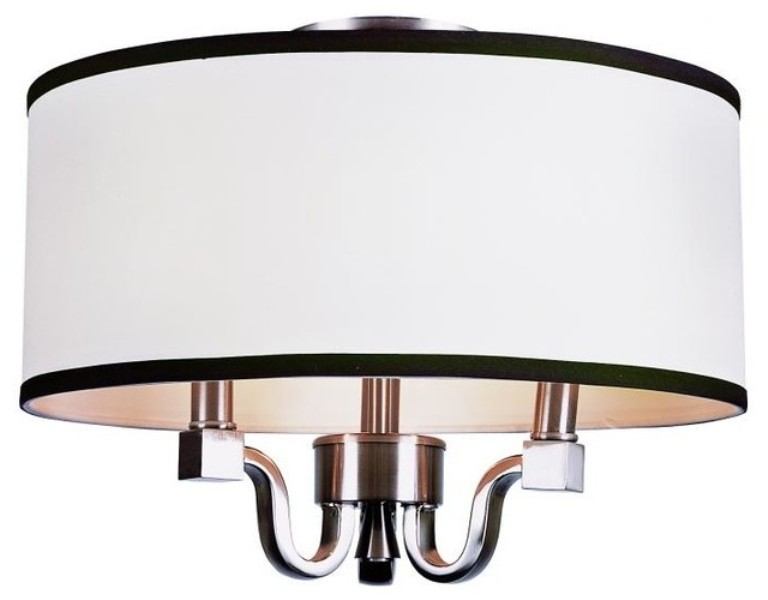 Image of: Drum Shade Flush Mount Ceiling Light Ideas