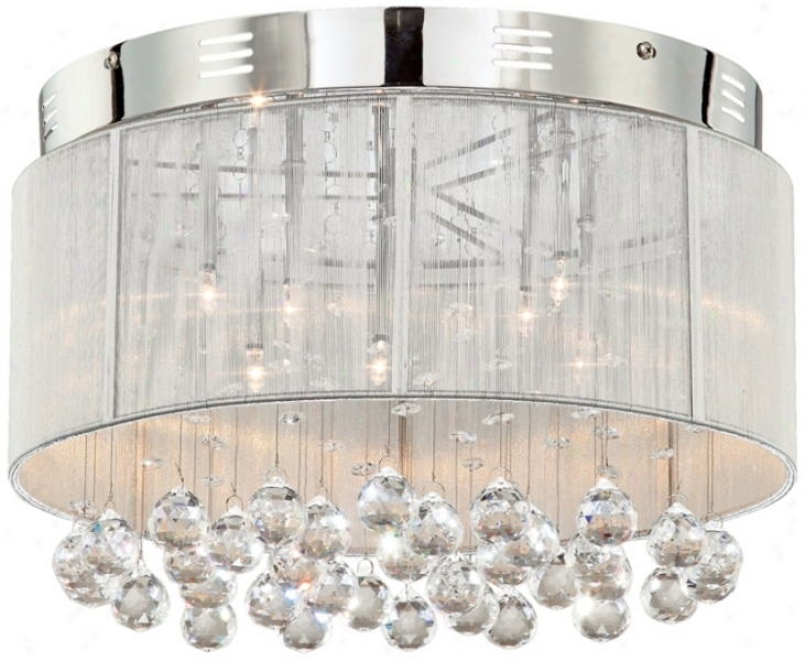 Drum Shade Pendant Light With Crystals