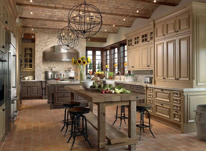 French Country Lighting Fixtures Kitchen