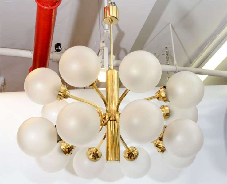 Picture of: Frosted Glass Chandelier Shades