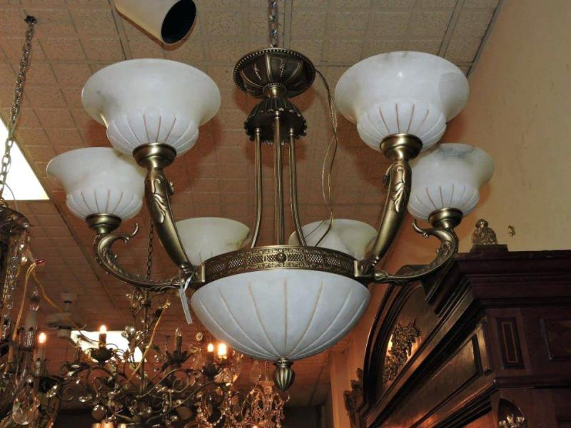 Picture of: Glass Clip On Chandelier Shades