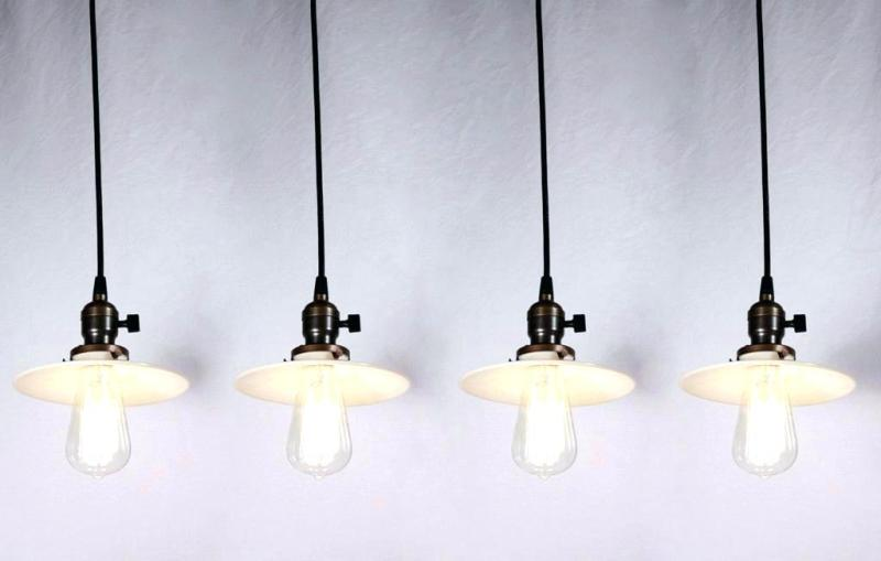 Picture of: Simple Glass Shades For Pendant Lights