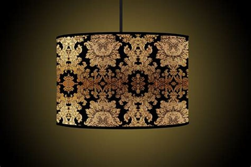 Gold Drum Lamp Shade
