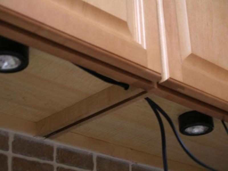 Image of: How To Install Under Cabinet Led Lighting