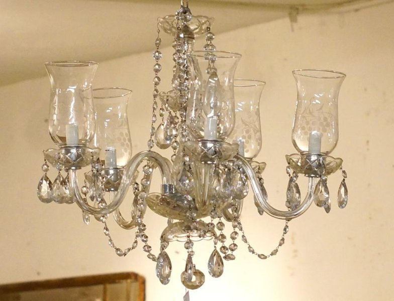 Picture of: Hurricane Chandelier Glass Shades Design