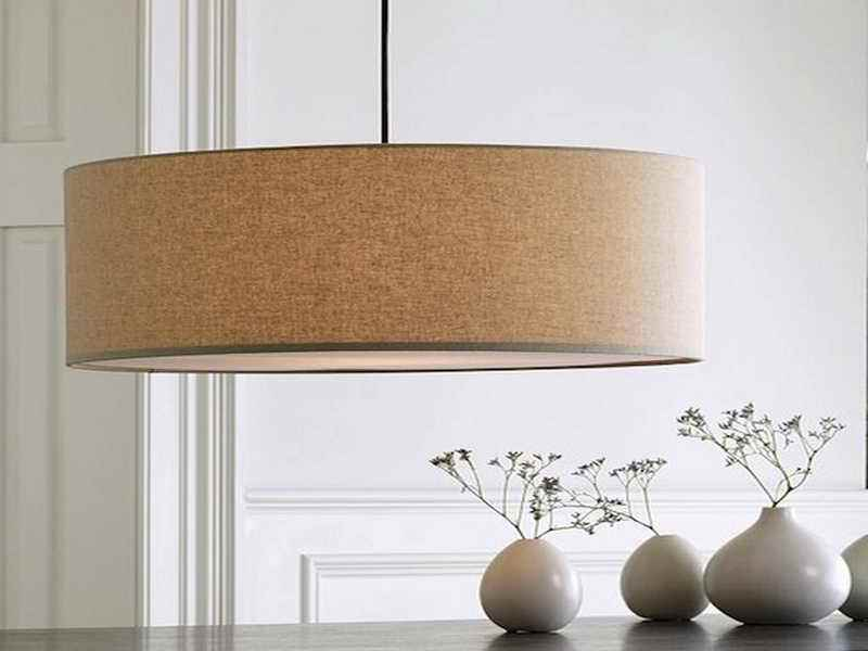 Image of: Large Drum Shade Ceiling Light