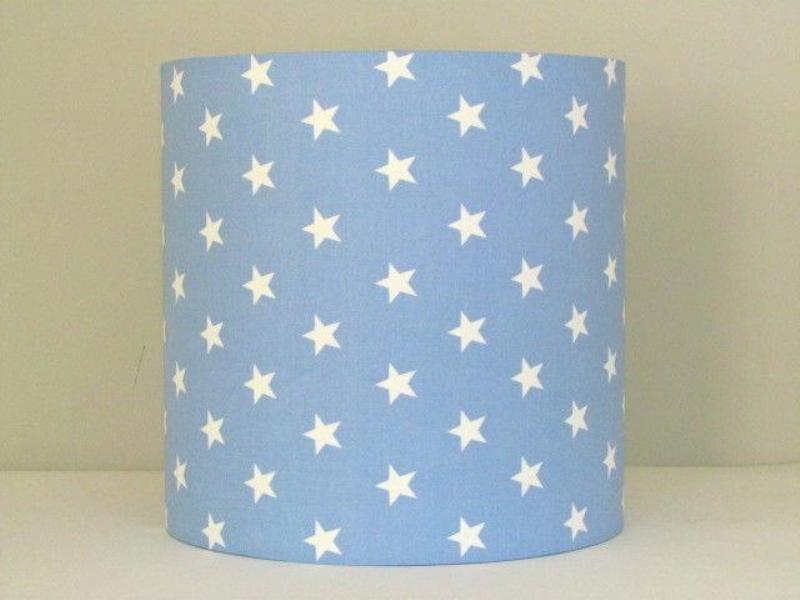 Image of: Light Blue And White Lamp Shade