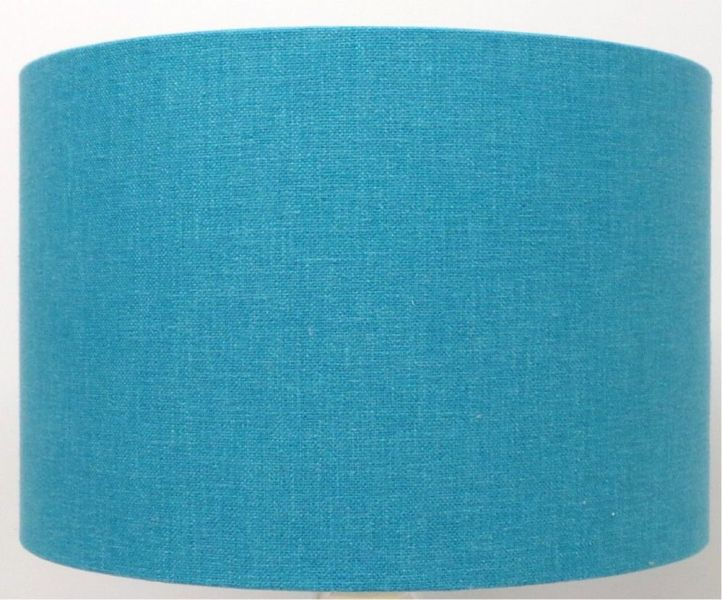 Picture of: Light Blue Drum Lamp Shade