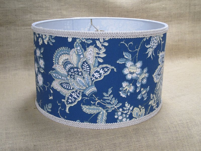 Light Blue Floral Lamp Shade