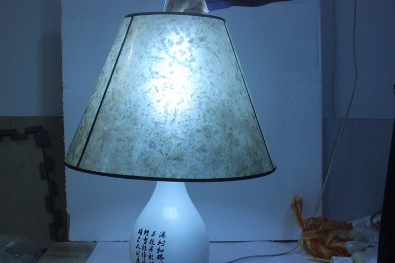 Picture of: Light Blue Spider Lamp Shade