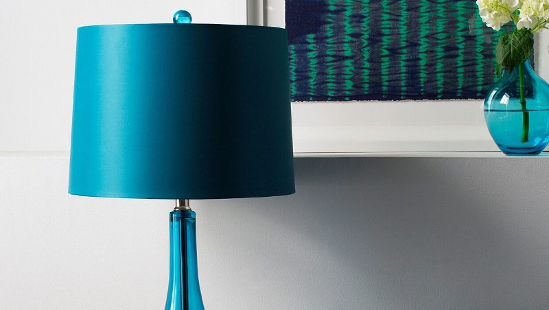 Image of: Light Blue Table Lamp Shade