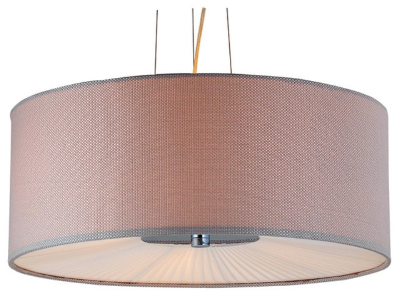 Image of: Linen Drum Shade Ceiling Light
