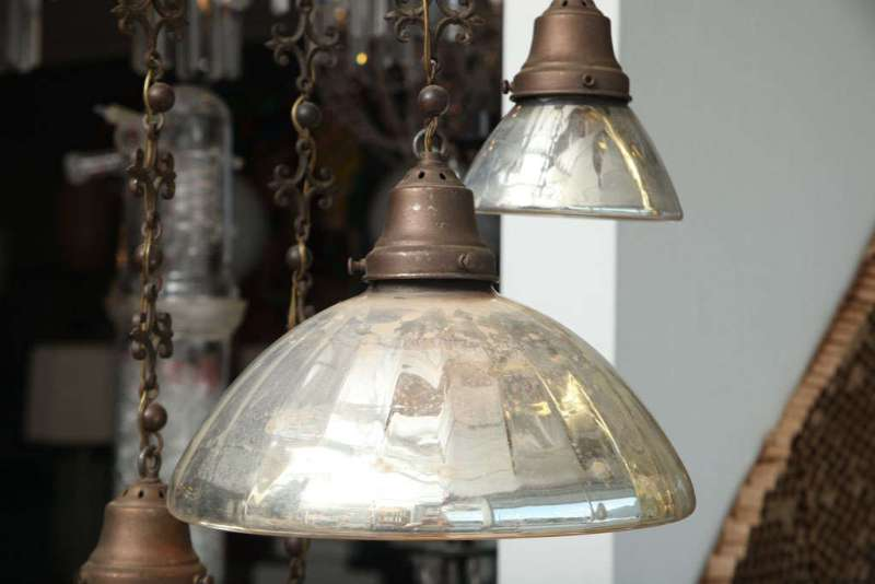 Picture of: Best Mercury Glass Chandelier Shades Ideas