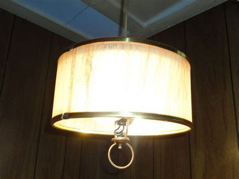 Image of: Mid Century Drum Lamp Shades