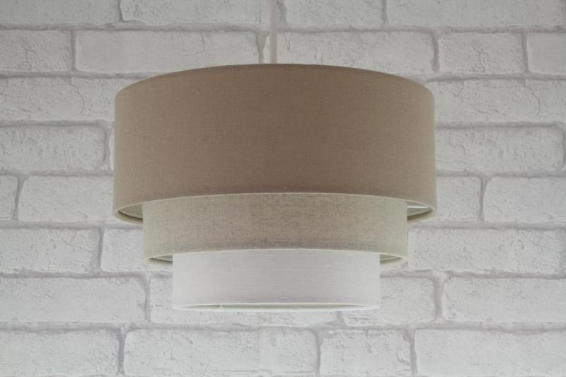 Pendant Light Fixtures With Fabric Shades