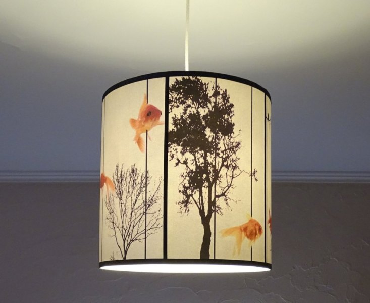 Pendant Light With Drum Shade