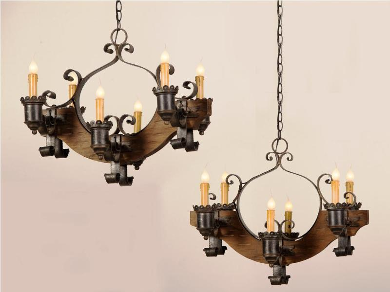 Image of: Rustic Lamp Shades For Chandeliers