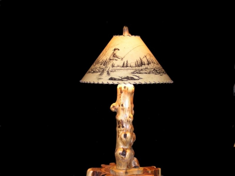 Image of: Rustic Lamp Shades From Top