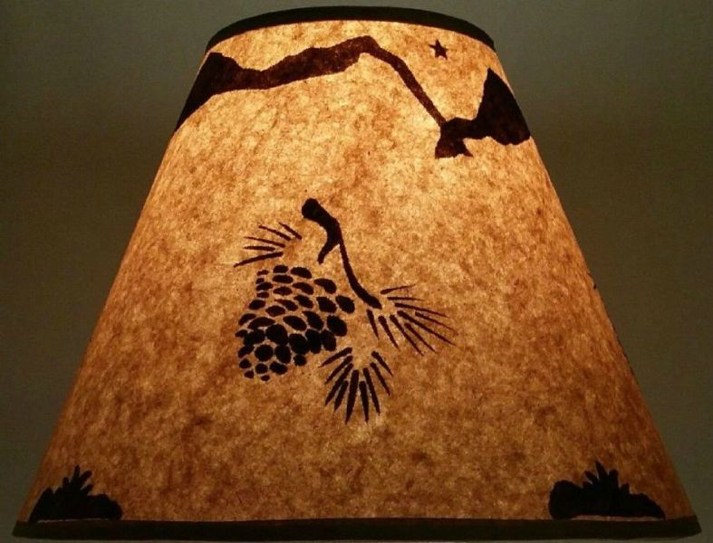 Image of: Rustic Parchment Lamp Shades