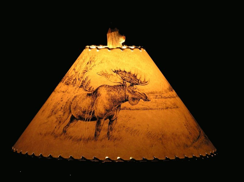 Rustic Wildlife Lamp Shades