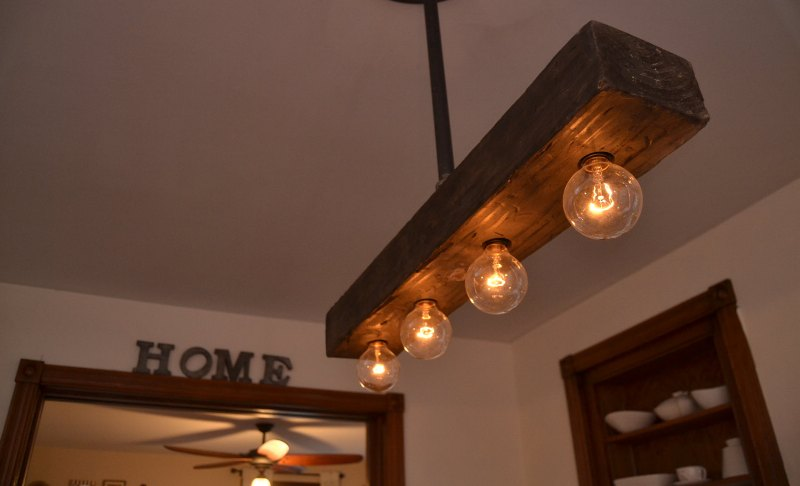 Rustic Wooden Light Fixtures