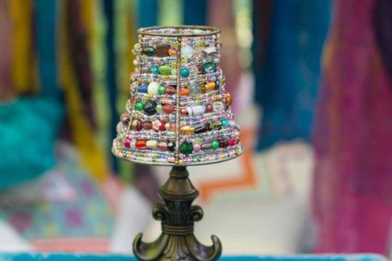 Picture of: Small Beaded Lamp Shades