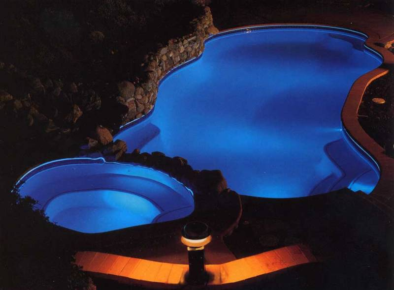 Image of: Solar Powered Above Ground Pool Lights