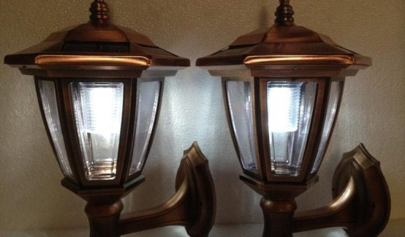 Solar Sconce Lights