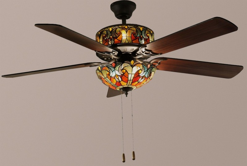 Stained Glass Ceiling Fan Light Shades