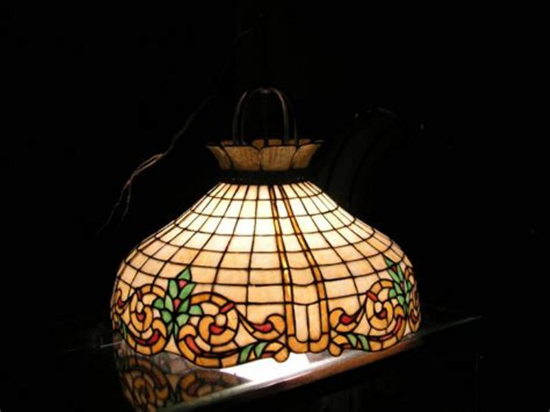 Picture of: Stained Glass Chandelier Shades