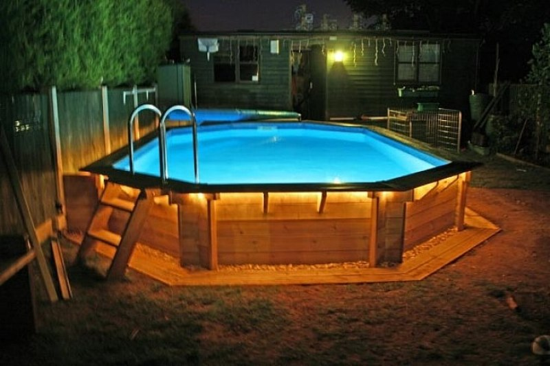 Image of: Swimming Pool Lights For Above Ground Pool