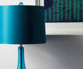 Teal Lamp Shades Table Lamps