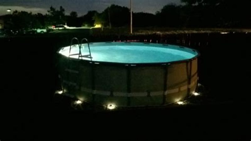 Image of: Underwater Pool Lights For Above Ground Pool