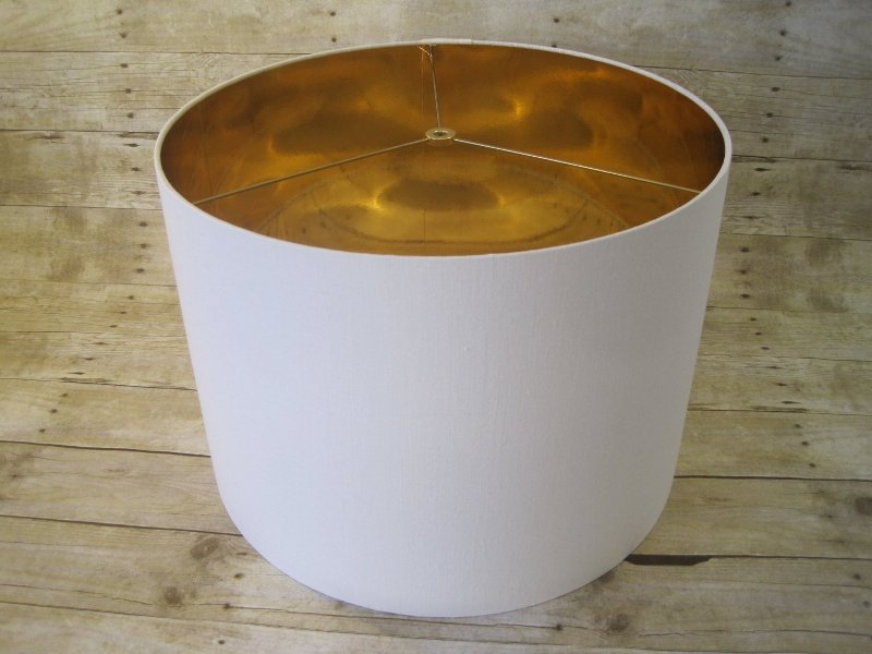 White Drum Lamp Shade